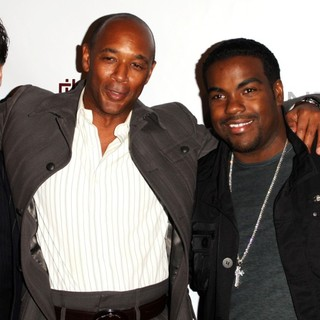 Nicholas Longano, Jonathan Eubanks, Rodney Jerkins, Ray Brown in MusicMogul.com Launch Party - Arrivals