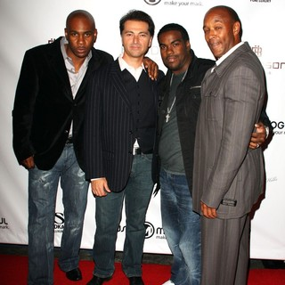 Ray Brown, Nicholas Longano, Rodney Jerkins, Jonathan Eubanks in MusicMogul.com Launch Party - Arrivals