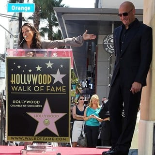 Michelle Rodriguez, Vin Diesel in Vin Diesel Honored on The Hollywood Walk of Fame