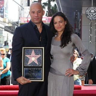 Vin Diesel, Michelle Rodriguez in Vin Diesel Honored on The Hollywood Walk of Fame