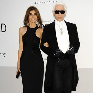 Carine Roitfeld, Karl Lagerfeld in AmfAR's Cinema Against AIDS Gala 2012 - During The 65th Annual Cannes Film Festival