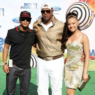 Lil' Romeo, Master P, Cymphonique Miller in BET Awards 2011