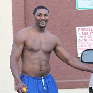 Ron Artest in Dancing with the Stars Celebrities Outside The Dance Rehearsal Studios