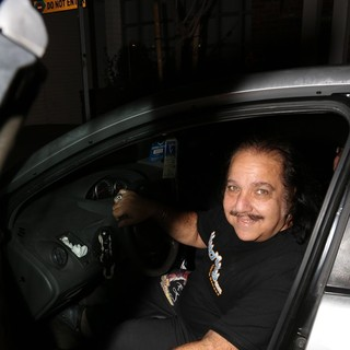 Ron Jeremy in Ron Jeremy Smiles for The Camera Before Driving Off