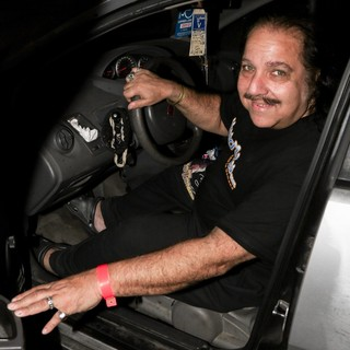Ron Jeremy - Ron Jeremy Smiles for The Camera Before Driving Off