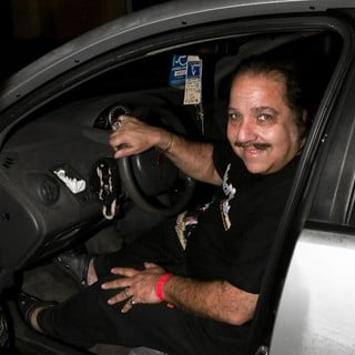 Ron Jeremy Smiles for The Camera Before Driving Off