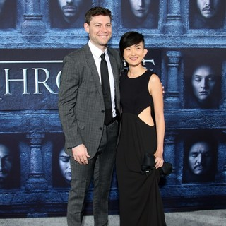 Patrick Fugit, Jennifer Del Rosario in Los Angeles Premiere for Season 6 of HBO's Game of Thrones