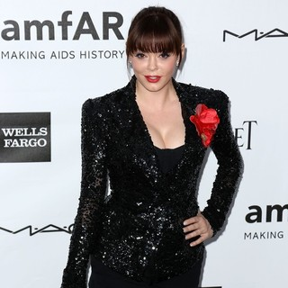 Rose McGowan in amfAR 3rd Annual Inspiration Gala