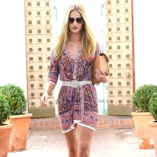 Rosie Huntington-Whiteley in Rosie Huntington-Whiteley Is Seen Leaving A Salon