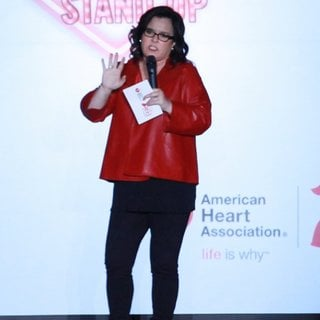 Rosie O'Donnell in Mercedes-Benz Fashion Week Fall 2015 - Go Red for Women Red Dress Collection - Runway - rosie-o-donnell-mercedes-benz-fashion-week-fall-2015-01