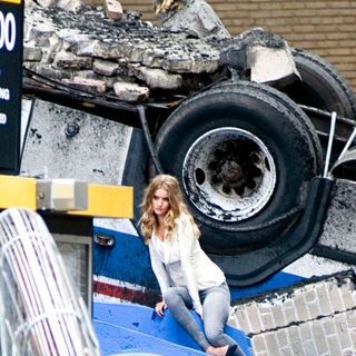 Rosie Huntington-Whiteley in On The Film Set for 'Transformers 3'