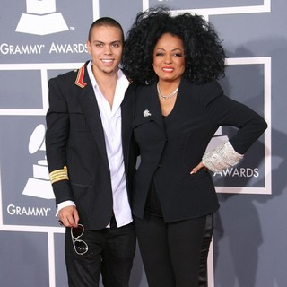 Evan Ross, Diana Ross in 54th Annual GRAMMY Awards - Arrivals