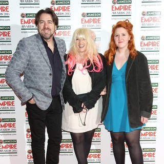 Jonathan Ross, Jane Goldman, Honey Kinney in Jameson Empire Film Awards 2013 - Arrivals