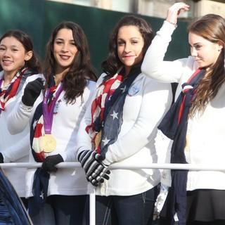 Kyla Ross, Aly Raisman, Jordyn Wieber, McKayla Maroney in 86th Annual Macy's Thanksgiving Day Parade