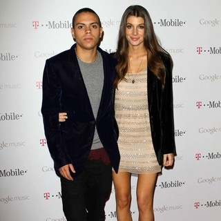 Evan Ross, Cora Skinner in Celebrity Magenta Carpet Arrivals at The Launch Party for Google Music Available on T-Mobile