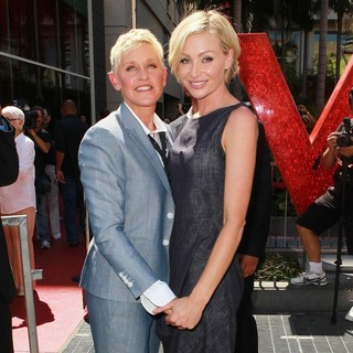 Ellen DeGeneres, Portia de Rossi in Ellen DeGeneres Is Honored with A Star on The Hollywood Walk of Fame