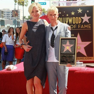 Portia de Rossi, Ellen DeGeneres in Ellen DeGeneres Is Honored with A Star on The Hollywood Walk of Fame