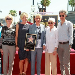 Portia de Rossi, Ellen DeGeneres, Betty DeGeneres in Ellen DeGeneres Is Honored with A Star on The Hollywood Walk of Fame