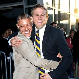 Theo Rossi, Charlie Hunnam in Screening of FX's Sons of Anarchy Season 4 Premiere
