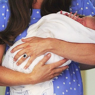 Kate Middleton, Prince of Cambridge in Prince William and Kate Middleton Left Hospital with Their New Bundle of Joy