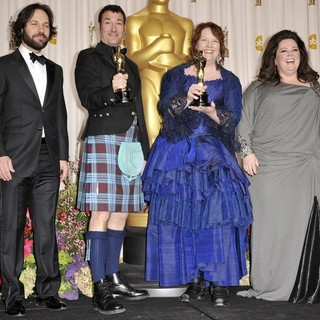 Paul Rudd, Mark Andrews, Brenda Chapman, Melissa McCarthy in The 85th Annual Oscars - Press Room