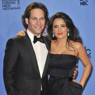 Paul Rudd, Salma Hayek in 70th Annual Golden Globe Awards - Press Room