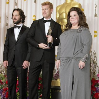 Paul Rudd, John Kahrs, Melissa McCarthy in The 85th Annual Oscars - Press Room