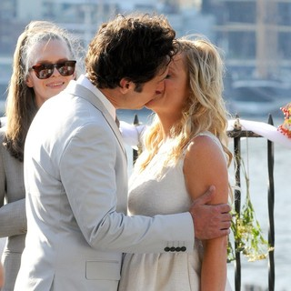 Paul Rudd, Amy Poehler in Paul Rudd and Amy Poehler Filming They Came Together on Location