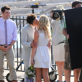 Paul Rudd and Amy Poehler Filming They Came Together on Location