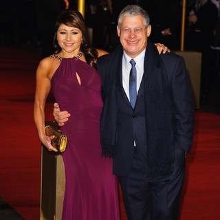 Frances Ruffelle, Cameron Mackintosh in Les Miserables World Premiere - Arrivals