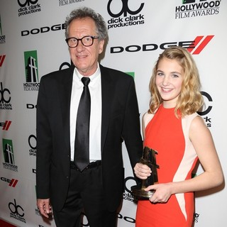 Geoffrey Rush, Sophie Nelisse in The 17th Annual Hollywood Film Awards