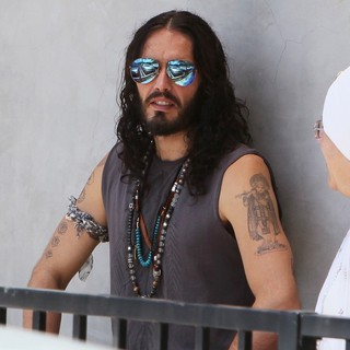 Russell Brand in Russell Brand Seen Leaving Golden Bridge Yoga