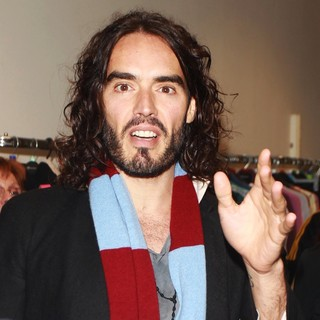 Russell Brand in Russell Brand Opens A Shop Run by Volunteers of The Mental Health Charity Called Thurrock Mind