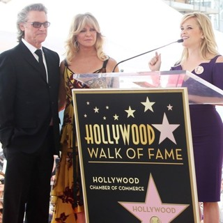 Kurt Russell, Goldie Hawn, Reese Witherspoon in Goldie Hawn and Kurt Russell Honored with Double Star Ceremony on The Hollywood Walk of Fame