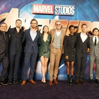 Joe Russo, Sebastian Stan, Tom Hiddleston, Elizabeth Olsen, Paul Bettany, Letitia Wright, Benedict Cumberbatch, Tom Holland, Anthony Russo in Avengers: Infinity War Fan Event - Arrivals