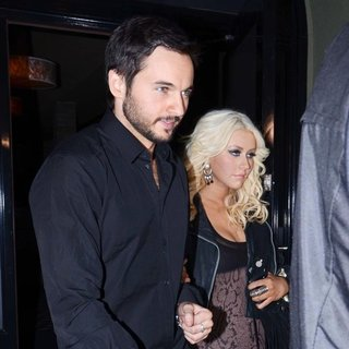 Matt Rutler, Christina Aguilera in Christina Aguilera and Matt Rutler Are Seen Leaving Craig's Restaurant