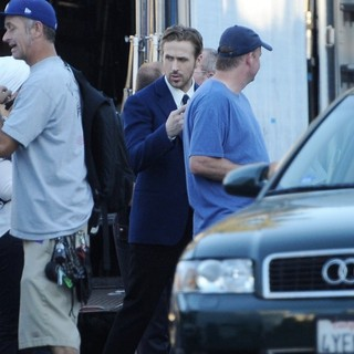 Ryan Gosling - Ryan Gosling and Emma Stone On The Set of La La Land