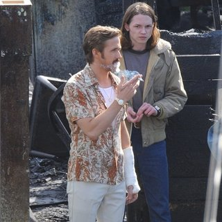 Ryan Gosling - On The Set of Movie The Nice Guys Filming