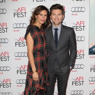 Naomi Sablan, Adam Scott in AFI FEST 2013 - The Secret Life of Walter Mitty Premiere
