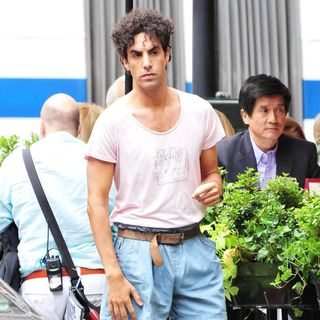 Sacha Baron Cohen in On The Film Location for The Dictator