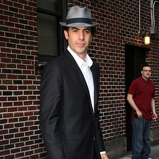 Sacha Baron Cohen in The Late Show with David Letterman - Arrivals - sacha-baron-cohen-late-show-with-david-letterman-03