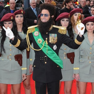 Sacha Baron Cohen in World Premiere of The Dictator - Arrivals