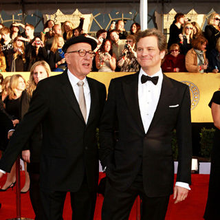 Geoffrey Rush, Colin Firth in The 17th Annual Screen Actors Guild Awards (SAG Awards 2011) - Arrivals
