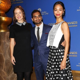 Olivia Wilde, Aziz Ansari, Zoe Saldana in 71st Annual Golden Globe Awards Nominations Announcement