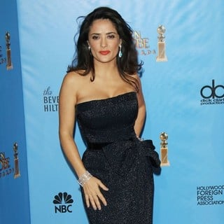 Salma Hayek in 70th Annual Golden Globe Awards - Press Room