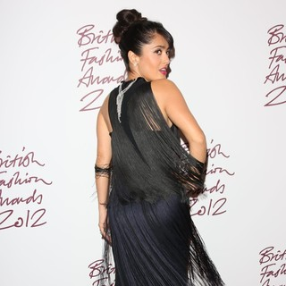 Salma Hayek in The British Fashion Awards 2012 - Arrivals
