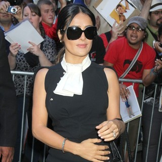 Salma Hayek in Celebrity Arrivals at ABC Studios for Good Morning America