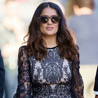 Salma Hayek Leaving The ABC Studios