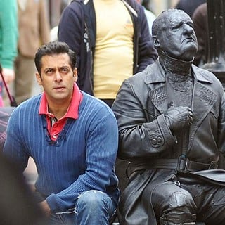Salman Khan in A Break in Filming Scenes on Ek Tha Tiger