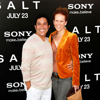 Oscar Nunez, Carla Nunez in The L.A. Movie Premiere of 'Salt' - Arrivals